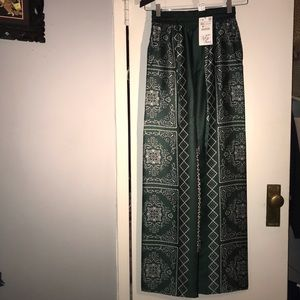 NWT Zara wide leg silky pants